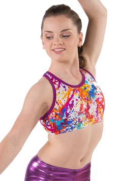 Graffiti Crop Top by Sylvia P $28AUD #sylviapgym #gymnastics #croptops