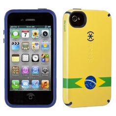 Amazon.com: Speck Limited Edition iPhone 4S CandyShell Case, Brasil  Flag