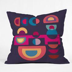 Viviana Gonzalez Geometric Colorplay 1 Throw Pillow | DENY Designs Home Accessories