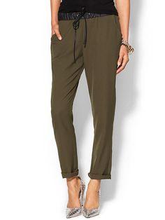 Amelia Leather Trim Soft Pant Product Image