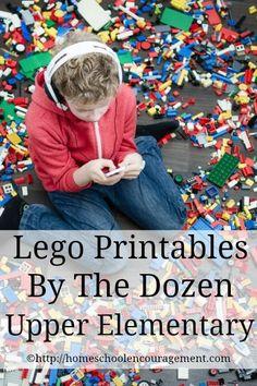 Sixteen Free Lego Printables for Upper Elementary from Homeschool Encouragement #HSencouragement