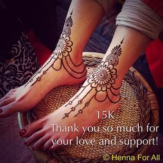 Thank you so much for liking my work! New Henna Designs, Mehandhi Designs, Unique Mehndi Designs, Beautiful Henna Designs, Henna Tattoo Designs, Henna Tattoo Foot, Design Tattoos, Mehendi, Henna Mehndi