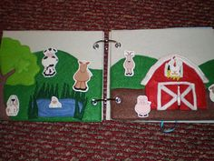 Barn idea - not sure how to do the animals being printed on fabric