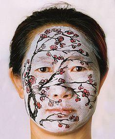 2004 FACE PAINTING (Plum), Huang Yan (b1966, Jilin Province; multimedia artist, Taoist, and businessman based in Beijing)