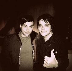 Gerard And Frank, Gerard Way, Frank Iero, I Love Mcr, Love Him, We Are The Fallen, Emo Culture, Never Fall In Love, Mikey