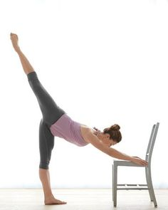 """Home """"Ballet Barre"""" Workout - Challenges your balance and strengthens your core, hips and legs."""