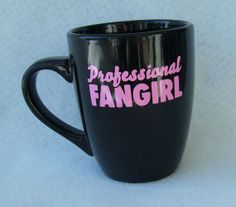 anime cosplay sci-fi professional fangirl fan girl 12 oz ceramic coffee mug handmade
