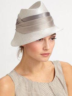 hats must be crisp, especially fedoras:  Armani Collezioni - Straw Fedora