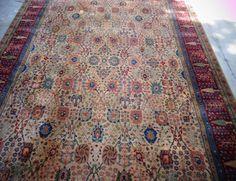 Large Karastan Samovar Persian Vase 10' x 14' Tea Wash Wool Rug 900-901  j #PersianVase