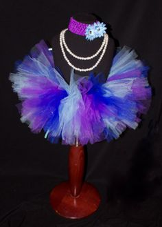 Blue Purple and Aqua Girls Tutu Newborn to 4T by HarperRaeDesigns, $18.00
