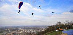 Although mostly a flat country, Hungary does have some hills, and the sport of paragliding is quite popular! click for more info: