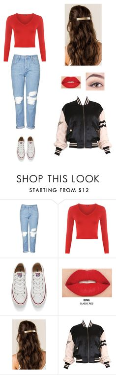 """""""Untitled #220"""" by georgia-royal ❤ liked on Polyvore featuring Topshop, WearAll, Converse, Smashbox and Moschino"""