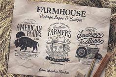 Farmhouse Vintage Badges and Logos by Trailhead Design Co. on @creativemarket
