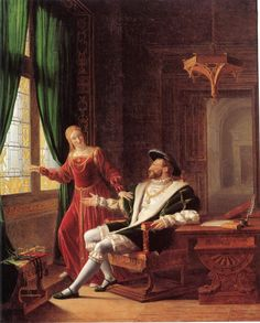 Francis I and Margaret Queen of Navarre 1804, Richard Fleury.