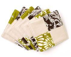 Patchwork Coasters #EasyNip. Judy~