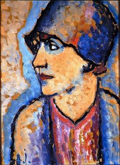Kirchhoff, circa 1922 by Alexei Jawlensky (Russian-born German Expressionist painter, Paul Klee, Painting People, Figure Painting, Painting & Drawing, Franz Marc, Wassily Kandinsky, Portrait Art, Portraits, Cavalier Bleu