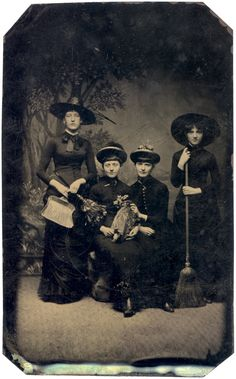 witch | Tintype Witches (almost), 1875 | Sexy Witch