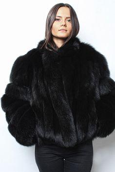 Beautiful Black Fox A Rainbow Of Lucious Furs Fur Fur