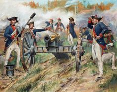 Hesse Hanau artillery under Captain Pausch during the second battle of Saratoga. Despite a valiant stand by the Germans , the position was eventually overrun by the patriots and most of the artillery and equipment was lost.