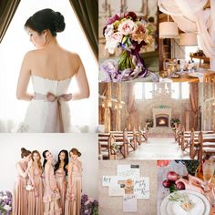 Mauve Gold Purple Wedding Colors perfect for a wintry wedding. http://enzoani.com/view-collection/blue/archive/eilat
