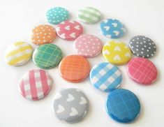 Washi tape buttons from #Etsy. So cute!