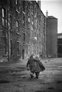 A Comforting Arm, Glasgow, Scotland, 1968. By David Peat