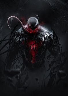 Spider-Man vs Venom by BossLogic Spiderman Kunst, Venom Spiderman, Marvel Venom, Marvel Villains, Marvel Comics Art, Marvel Comic Universe, Marvel Fan, Marvel Heroes, Storm Marvel