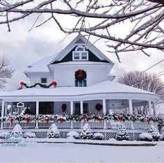 Beautiful home decorated for Christmas.