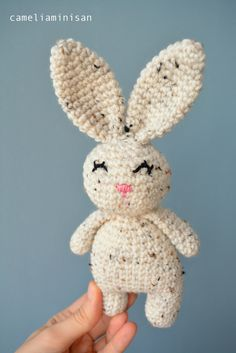 Crochet Bunny [amigurumi rabbit joy toy, baby gift]