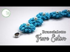 Today I'll show you how to crochet this beautiful summer bracelet. ╰☆╮link of materials ╰☆╮ ❀ Cablè 8 Filo di S. Crochet Flower Patterns, Crochet Flowers, Crochet Bracelet, Crochet Earrings, Crochet Hair Accessories, Tatting Tutorial, Crochet Leaves, Flower Bag, Crochet Bookmarks