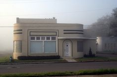 art deco house in the fog   Flickr - Photo Sharing!