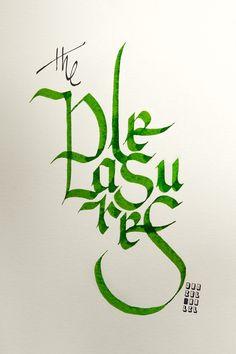 """""""...the pleasures..."""" #caligrafia #calligraphy #quotes #umbertoeco"""