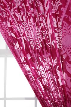 Nouveau Garden Velvet Burnout Curtain    $59.00