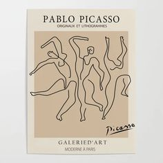Pablo Picasso, Wall Collage, Wall Art Prints, Dancer Tattoo, Poster Wall, Poster Prints, Art Exhibition Posters, Abstract Face Art, Art Moderne