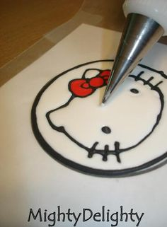 Mighty Delighty: How to Make Hello Kitty Cupcakes