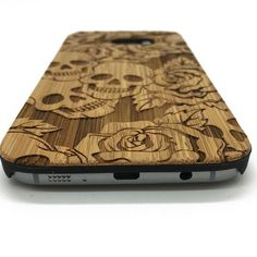 Flowers&Skulls pattern on wood phone case for iPhone 7&Samsung galaxy | jiacase