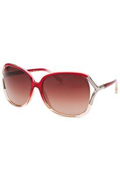 Calvin Klein - Ladies' Oversized Sunglasses in Translucent Pink