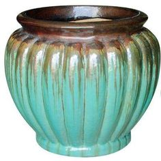 18 in. Dia Multi-Color Ceramic Fallkirk Planter