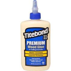 II Premium Wood Glue at Lowe's. This glue is the leading brand, one-part wood glue that passes the ANSI Type II water-resistance specification. It is ideal for exterior woodworking