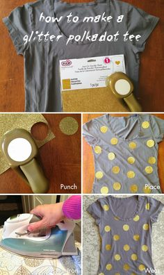 Make your own Glittered Polka Dot Tee!