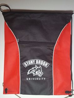 Stony Brook University drawstring bag Black/Red