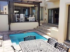 Moskombers - Moskombers is situated in Calypso Beach, Langebaan.  The living area, kitchen and two of the bedrooms are situated on the ground floor.  The main bedroom and en-suite is situated on the first floor.  The ... #weekendgetaways #langebaan #westcoast #southafrica #travel #selfcatering
