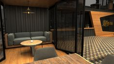 Next Container // Lokma on Behance Building A Container Home, Container Buildings, Container Architecture, Container House Plans, Container House Design, Small House Design, Modern House Design, Container Cafe, Container Coffee Shop