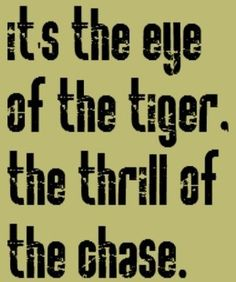 Image result for eye of the tiger quotes