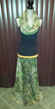 Realtree Camo Skirt Ladies Long Camo Maxi Skirt by ItsPeachyKeen
