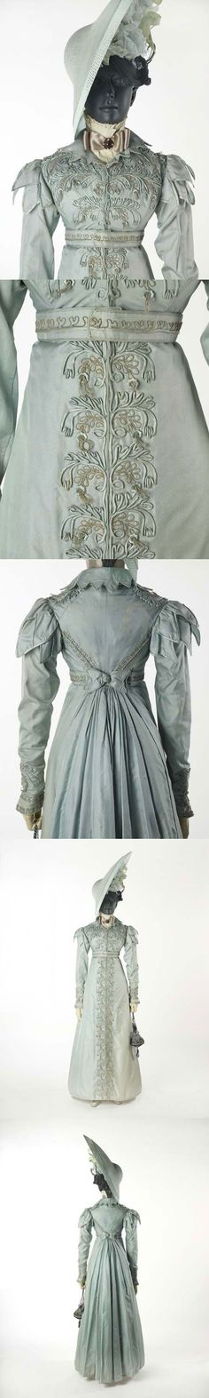 A pelisse. The pelisse was made for a trousseau in 1823 for the wedding of the grandmother of the donor. Museum of London