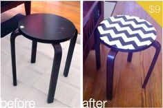Guest Project: Painted Chevron Table ~ Madigan Made { simple DIY ideas } Chevron Table, Diy Projects To Try, Home Projects, Home Crafts, Cool Furniture, Painted Furniture, Paint Chevron, I Spy Diy
