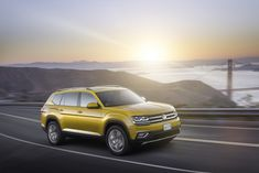 Volkswagen has unveiled its brand new Atlas crossover ahead of the model's world premiere at the Los Angeles Auto Show.