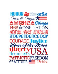 Independence Day Printable - frame it for a cute 4th of July decoration