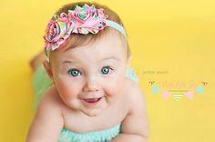 Baby Headband  Baby Girl  Flower Headband  by PoshLittleTots